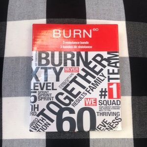 Burn 60 set of three resistance bands